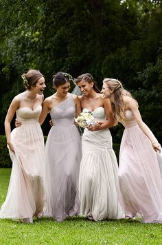Beautiful pastel color bridesmaids dresses by Wtoo, Spring 2015