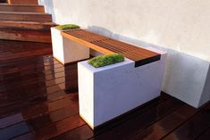 Concrete and Ipe Bench - modern - patio - los angeles - by Stone Cold Concrete