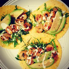 Cilantro-Lime Shrimp Tacos with Food for Life Sprouted Corn Tortillas www.thepaleoprize.com