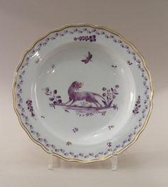 """Assiette à décor dit"""" falbetière"""" Porcelaine de Meissen du XVIIIe siècle"""