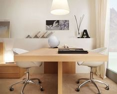 Best Two Person Desk Design Ideas for Your Home Office Workspace Mesa Home Office, Best Home Office Desk, Home Desk, Home Office Furniture, Wood Furniture, Furniture Sets, Bureau Design, Workspace Design, Office Workspace
