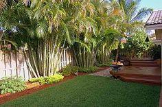 tropical cottage patios | Tropical Backyard with Deck : Concrete Powder