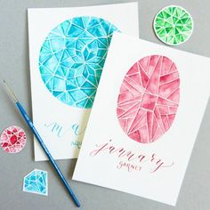 Watercolor jewels are gorgeous and ridiculously easy to paint. Check out this detailed tutorial to learn how to make these beautiful pieces!