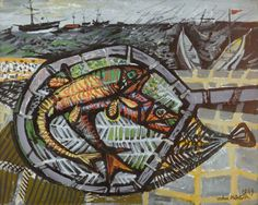 'Stormy Day' by John Minton, 1949 (oil on canvas) John Minton, Royal College Of Art, Art Uk, Your Paintings, Modern Art, Contemporary, Art Forms, Painting & Drawing, Oil On Canvas