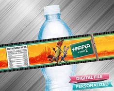 Zootopia Water Bottle Label por kidspartydiy en Etsy