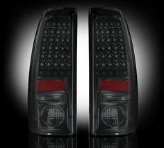 (99-07 Chevy Silverado & GMC Sierra) RECON Smoked LED Taillights