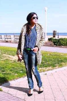 MYRIAD MUSINGS: SPOTS AND STRIPES AND A TOURIST