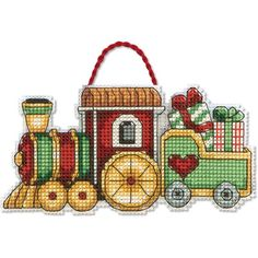 Dimensions Counted Cross Stitch Kit TRAIN ORNAMENT
