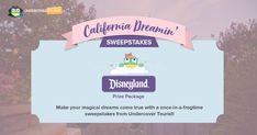 Enter for a chance to win a California Dreamin' Family Vacation from Undercover Tourist!