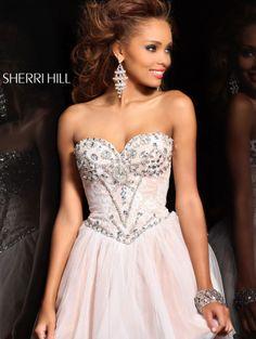 2013 Sherri Hill 21156 Lvory Silver Homecoming Dresses