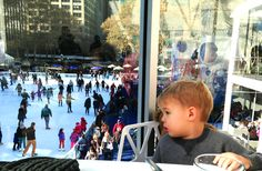 At Celcius lounge, Bryant Park skating rink