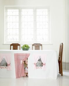 Playhouse Tablecloth (http://blog.hgtv.com/design/2013/08/30/daily-delight-playhouse-tablecloth/?soc=pinterest)