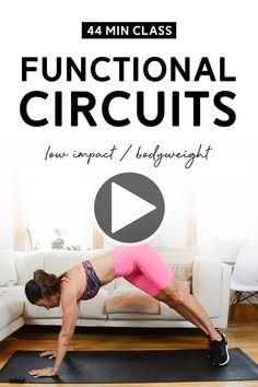 Hiit Workout Videos, Workout For Beginners, Fun Workouts, At Home Workouts, Workout Classes, Best Home Workout Program, Workout Programs, Body Weight Training, Weight Loss Workout Plan