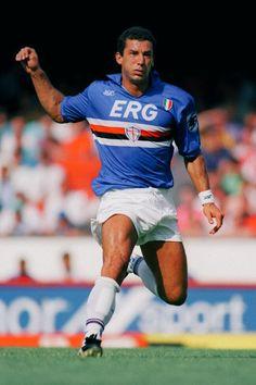 Gianluca Viali playing for Sampdoria during the 1991/92 season