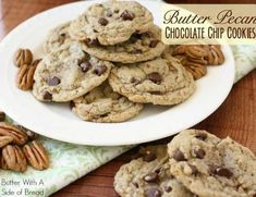 Today is National Chocolate Chip Day (really!) and to celebrate I'm sharing a delicious recipe that includes my favorite ingredient. Can you guess what it is?! Yep- BUTTER! Ahhh yes- in my opinion it makes just about any baked good better. These cookies have a great butter-pecan flavor and the added chocolate is a bonus. They're …