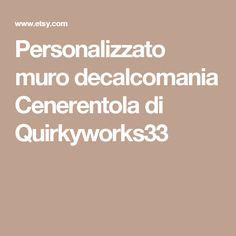 Personalizzato muro decalcomania Cenerentola di Quirkyworks33