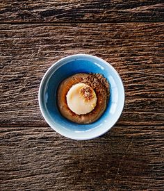 Shannon Bennett's steamed lemon delicious pudding with Nepresso coffee mousse :: Gourmet Traveller