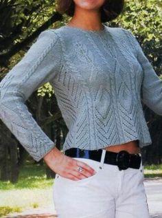 Pullover mit Ajourmuster und Zopfmuster Mehr