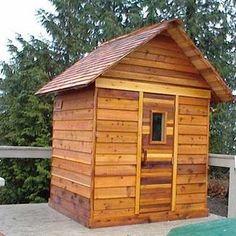 5x6 Outdoor Sauna Kit + Heater + Accessories