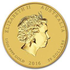Moneda Año Lunar del Mono 2016 Oro 1/2 oz Reverse