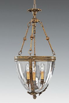 Viking Style Bell Jar LanternWith Decorated Bands - 18th Century Lanterns