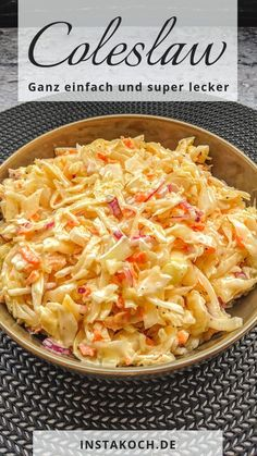 Coleslaw - Simply do it yourself - Burger Recipes Meat Recipes, Salad Recipes, Vegetarian Recipes, Chicken Recipes, Evening Meals, Eating Plans, Macaroni And Cheese, Easy Meals, Food And Drink