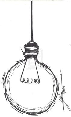 drawing bulb easy lamps drawings simple line lighting tattoo lightbulb sketch pencil clipart lamp sketches pen clip ink info