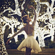 a dream - to dance in a wood full of fairy lights