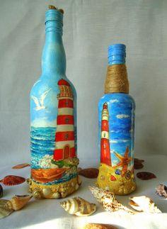 Декупаж - Сайт любителей декупажа - DCPG.RU | Морские бутылки