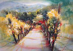 Landschaften - Heinz Schweizer Watercolor Journal, Watercolor Artists, Watercolor Landscape, Watercolor And Ink, Landscape Art, Painting & Drawing, Landscape Paintings, Classical Art, Art Themes