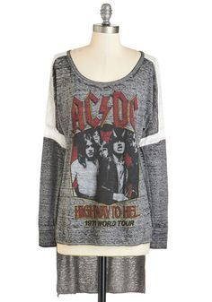 For Those About to Rollick Tee. Salute your rockin music savvy in this long-sleeved AC/DC top. #gold #prom #modcloth