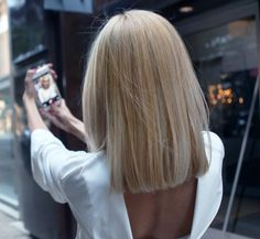 HOW-TO: Grown-out Ombre Transformed into an Edgy, Blonde Lob | Modern Salon