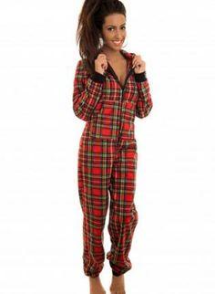 d09979aa8b red plaid onsie  pajamas Onesie Pajamas