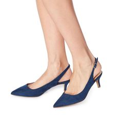 ff31f7cdb4a CORRIN - Low Slingback Court Shoe - navy
