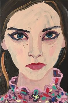 Gill Button's 'Thea Loves Erdem' featured in the 'Decadents' exhibit at the James Freeman Gallery