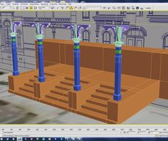 #disney in #3d update: --- Main Street City Hall - Created the stair set and posts last night. A lot of detail went into these posts and I look forward to adding a sunlight system and seeing the shadows they produce. - CAD work by Flickr user 'enfilm' --- http://ift.tt/1G95kUE --- #disneyland #anaheim #california #mainstreet #sketchup #3dprinting #themepark by modelingdisney