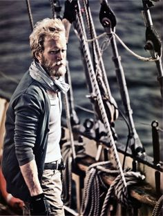 sailing, lines, boats, water, gloves, scarf, men, adventure, sailboat, ocean, journey, travel