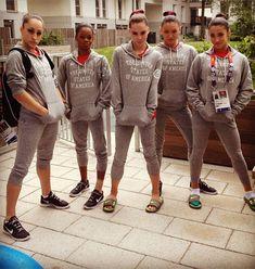 """The Fab Five"" US Women's Gymnastics Team - Jordyn Wieber, Gabby Douglas, McKayla Maroney, Kyla Ross and Aly Raisman <3"