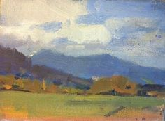 """Idaho clearing by John Weiss Oil ~ 6"""" x 8"""""""