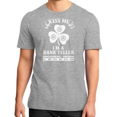 Irish bank teller District T-Shirt (on man)