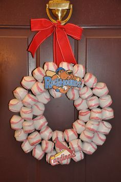 Welcome to the Rockhounds Preseason Baseball Party as well the Cardinal home opener. Wreath created by Greene with Envy Events