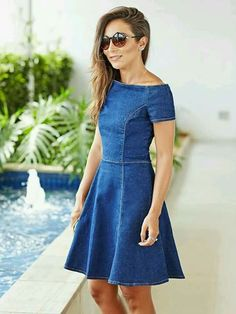 Swans Style is the top online fashion store for women. Shop sexy club dresses, jeans, shoes, bodysuits, skirts and more. Denim Fashion, Look Fashion, Girl Fashion, Fashion Outfits, Fashion News, Cute Dresses, Casual Dresses, Summer Dresses, Denim Dresses