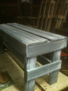 Rustic Bench pallet wood/painted/distressed/custom by JuneauAttic, $95.00