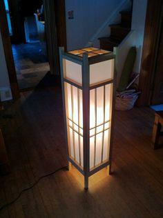 shoji floor lamps, japanese floor lamps | wood & paper lanterns