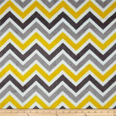 Minky Cuddle Zig Zag Lemon/Silver from @fabricdotcom  This ultra soft and luxurious minky cuddle fabric is perfect for making ultimate minky blanket, throws, cuddly toys, lounge wear, quilt backing much more! Pile measures 3mm. Colors include ash, silver, white and lemon yellow.