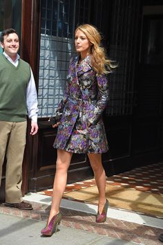 When we spotted this divine coat on Blake Lively, it instantly made it onto our 'must-have' list. The gorgeous Valentino design features a shimmering butterfly and floral design, making it an instant standout.