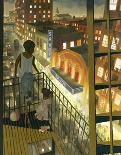 #GregZymet, #NewYork, #City Fire Escape, New York Art, Cityscapes, Nyc, Urban, Street, Painting, Painting Art, Paintings