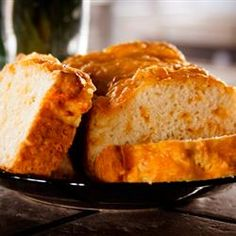 Quick and Easy Cheese Bread via Allrecipes.com (Tips: Use 1 cup of milk &1 1/2 cups of cheese. Optional, add a package of italian dressing mix and decreased the salt to 1/4 tsp)