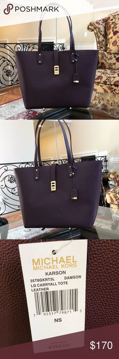 7979a92d8788 Authentic Michael Kors Karson Large Tote/handbag Guaranteed authentic Michael  Kors large carry all tote&