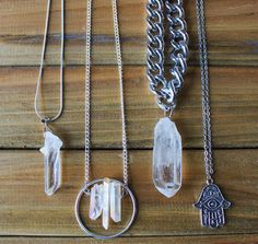 Clear Quartz Jewelry available online ShopCrystalTribe.com || Clear quartz crystals are ideal programming stones & such crystals are used in common everyday gadgets (computers phones radios) as storage receptacles & retrieves information. The ability to store & retrieve information allows one to place their intentions into the clear quartz healing stones to boost the power of their own thoughts as forms of energy & enhance their universal manifestation of powers. by crystal.tribe